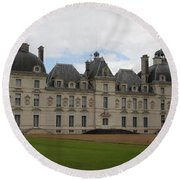 Chateau Cheverney - Front View Round Beach Towel
