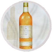 Chateau D Yquem Round Beach Towel by Lincoln Seligman