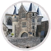 Chateau D'angers - Chatelet  Round Beach Towel