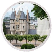 Chateau D'angers - Chatelet View Round Beach Towel