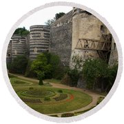Chateau D'angers Round Beach Towel