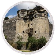 Chateau D'angers - France Round Beach Towel
