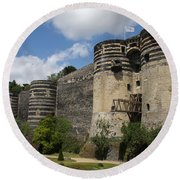 Chateau D'angers - The Keep Round Beach Towel