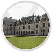 Chateau De Beauregard Loire Valley Round Beach Towel
