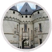 Chateau De Chaumont - France Round Beach Towel