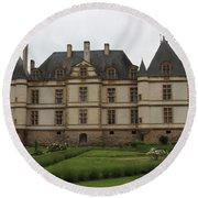 Chateau De Cormatin  And Garden - Burgundy Round Beach Towel