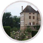 Chateau De Cormatin - Burgundy Round Beach Towel