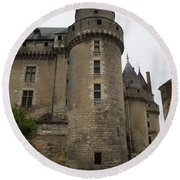 Chateau De Langeais - France Round Beach Towel