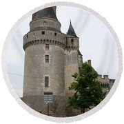 Chateau De Langeais Tower Round Beach Towel