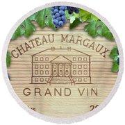 Chateau Margaux Round Beach Towel