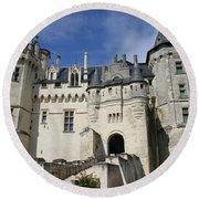 Chateau Saumur  Round Beach Towel