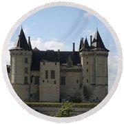 Chateau Saumur - France Round Beach Towel