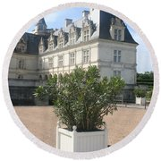 Chateau Villandry View Round Beach Towel