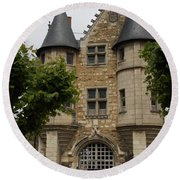 Chatelet - Chateau D'angers  Round Beach Towel