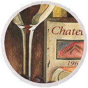 Chateux 1965 Round Beach Towel by Debbie DeWitt
