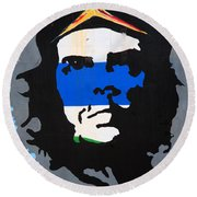 Che Guevara Picture Round Beach Towel