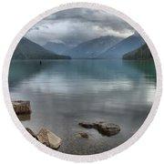 Cheakamus Lake - Squamish British Columbia Round Beach Towel