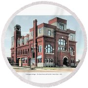 Cheboygan Michigan - Opera House And City Hall - Huron Street - 1905 Round Beach Towel
