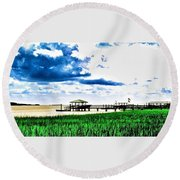 Chechessee River Style Round Beach Towel