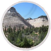 Checkerboard Mesa Round Beach Towel