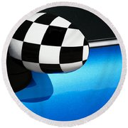 Checkered Finish Round Beach Towel