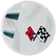 Checkers Round Beach Towel by Bill Gallagher