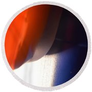 Cheeky But In Patriotic Colous  Round Beach Towel