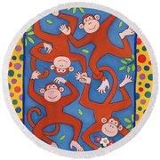 Cheeky Monkeys Wc Round Beach Towel