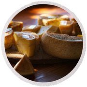 Cheese Selection Round Beach Towel