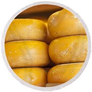 Cheese Wheels Round Beach Towel