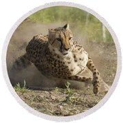 Cheetah Run 2 Round Beach Towel