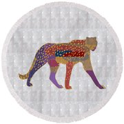 Cheetah Showcasing Navinjoshi Gallery Art Icons Buy Faa Products Or Download For Self Printing  Navi Round Beach Towel