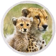 Cheetah Two Round Beach Towel