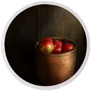 Chef - Fruit - Apples Round Beach Towel