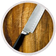 Chef's Knife Round Beach Towel