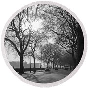 Chelsea Embankment London 2 Uk Round Beach Towel