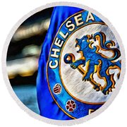 Chelsea Football Club Poster Round Beach Towel