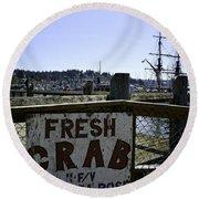 Chelsea Rose Crab Round Beach Towel