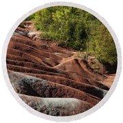 Mars On Earth - Cheltenham Badlands Ontario Canada Round Beach Towel