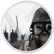 Chemical Landscape Round Beach Towel