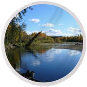 Chena River Round Beach Towel