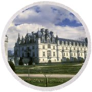 Chenonceaux Round Beach Towel