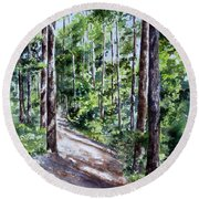 Cheraw Trail Round Beach Towel