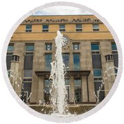 Cherokee County Courthouse 3 Round Beach Towel