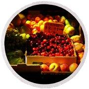 Cherries 299 A Pound Round Beach Towel