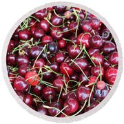 Cherries In Des Moines Washington Round Beach Towel