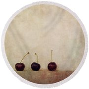 Cherries Round Beach Towel
