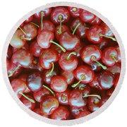 Cherries Round Beach Towel
