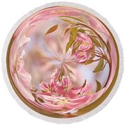 Cherry Blossom Orb Round Beach Towel