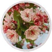 Cherry Blossom Pink Round Beach Towel